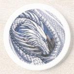 Práctico de costa del dragón del diamante posavasos personalizados