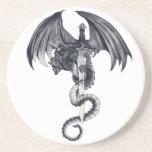 Práctico de costa del dragón y de la espada posavaso para bebida