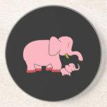 Práctico de costa del elefante rosado posavaso para bebida