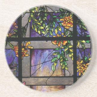 Práctico de costa del enrejado del jardín del vitr posavasos personalizados