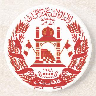 Práctico de costa del escudo de armas de Afganistá Posavasos Diseño