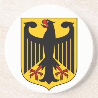 Práctico de costa del escudo de armas de Alemania Posavaso Para Bebida