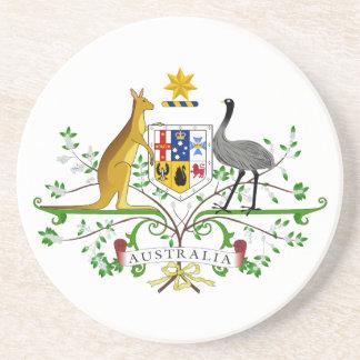 Práctico de costa del escudo de armas de Australia Posavasos De Arenisca