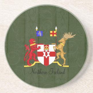Práctico de costa del escudo de armas de Irlanda d Posavasos Cerveza