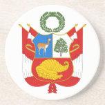 Práctico de costa del escudo de armas de Perú Posavasos Personalizados