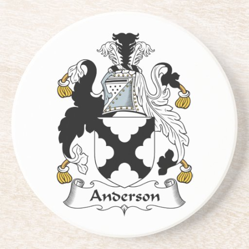 Práctico de costa del escudo de la familia de Ande Posavasos Personalizados
