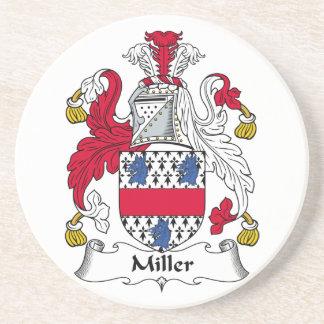Práctico de costa del escudo de la familia de Mill Posavasos Para Bebidas