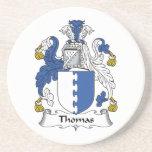Práctico de costa del escudo de la familia de Thom Posavasos Personalizados
