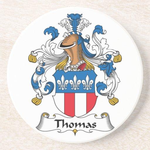 Práctico de costa del escudo de la familia de Thom Posavasos Diseño