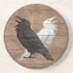 Práctico de costa del escudo de Viking - los cuerv Posavasos Personalizados