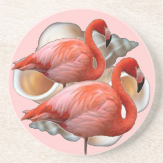 Práctico de costa del flamenco del Seashell Posavasos Diseño