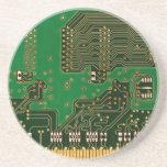 práctico de costa del fondo de la placa de circuit posavasos cerveza