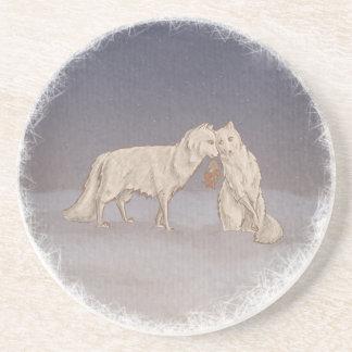 Práctico de costa del Fox ártico Posavasos Personalizados