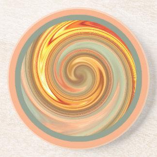 Práctico de costa del fractal del espiral de la posavasos manualidades