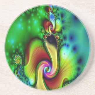 Práctico de costa del fractal posavasos personalizados