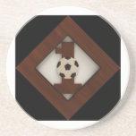 Práctico de costa del fútbol del diamante #1 posavasos manualidades