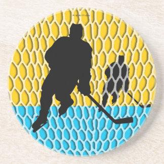 Práctico de costa del hockey posavasos personalizados