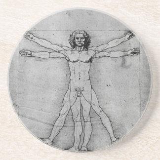 Práctico de costa del hombre de Vitruvian Posavasos Personalizados