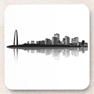 Práctico de costa del horizonte de St. Louis (b/w) Posavaso