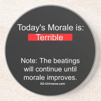 Práctico de costa del informe de la moral posavasos personalizados