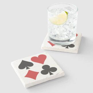 Práctico de costa del jugador de tarjeta posavasos de piedra