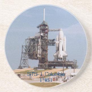 Práctico de costa del lanzamiento STS-1 Posavasos Para Bebidas