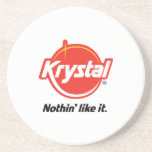 Práctico de costa del logotipo de Krystal en blanc Posavasos Cerveza