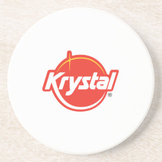 Práctico de costa del logotipo de Krystal en blanc Posavasos Diseño