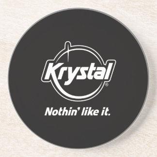 Práctico de costa del logotipo de Krystal Posavasos Personalizados