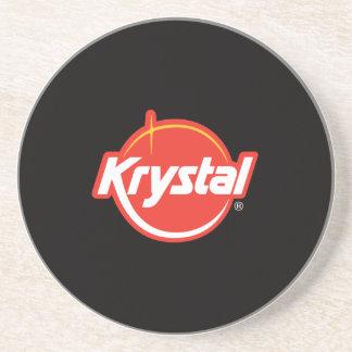 Práctico de costa del logotipo de Krystal Posavasos Para Bebidas