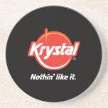 Práctico de costa del logotipo de Krystal Posavasos Manualidades