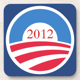 Práctico de costa del logotipo de Obama Posavasos De Bebida