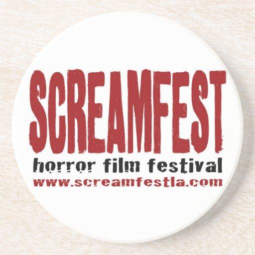 Práctico de costa del logotipo de Screamfest Posavasos Personalizados