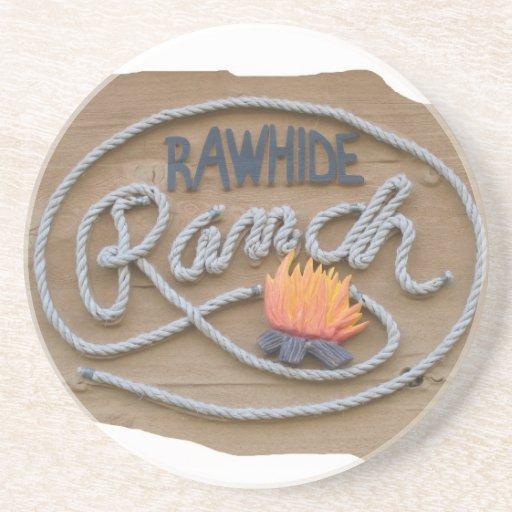 Práctico de costa del logotipo del rancho posavasos personalizados
