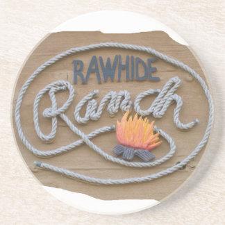 Práctico de costa del logotipo del rancho posavaso para bebida
