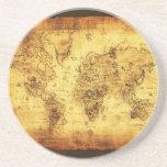 Práctico de costa del mapa de Viejo Mundo Posavasos Cerveza
