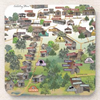 Práctico de costa del mapa del museo del pueblo de posavasos
