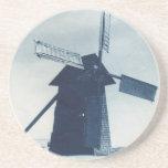 Práctico de costa del molino de viento posavasos personalizados