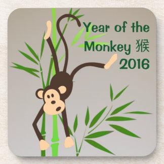 Práctico de costa del mono del zodiaco posavasos
