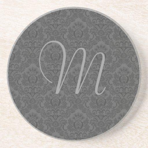 Práctico de costa del monograma posavasos diseño