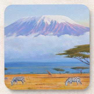 Práctico de costa del monte Kilimanjaro Posavasos De Bebidas
