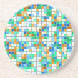 Práctico de costa del mosaico posavasos personalizados