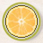 Práctico de costa del naranja del arte del pixel posavasos cerveza