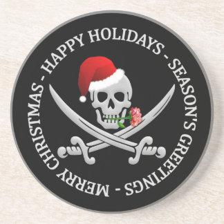 Práctico de costa del navidad del pirata posavasos para bebidas