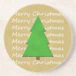Práctico de costa del navidad - feliz árbol de nav posavasos personalizados