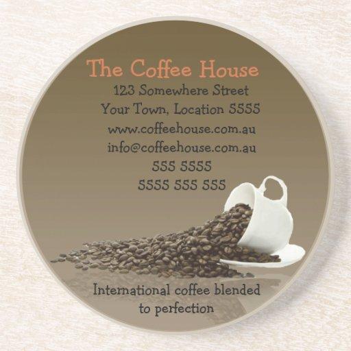 Práctico de costa del negocio del café posavasos diseño