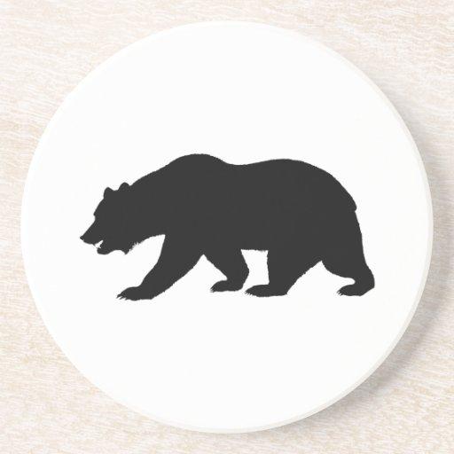 Práctico de costa del oso grizzly posavasos para bebidas
