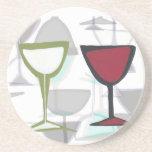 práctico de costa del panel del vino posavasos para bebidas