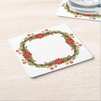 Práctico de costa del papel cuadrado de la posavasos desechable cuadrado
