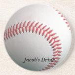 Práctico de costa del personalizable del béisbol posavasos para bebidas